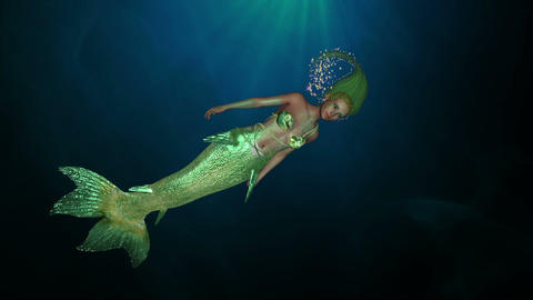 Mermaid under the water Animation