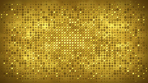 Gold wall with flashing lights abstract loopable background Animation