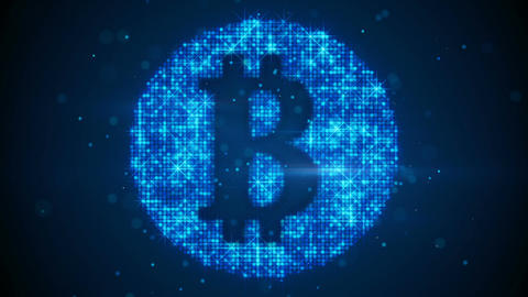 Bitcoin sign virtual currency symbol last 10s loop Animation
