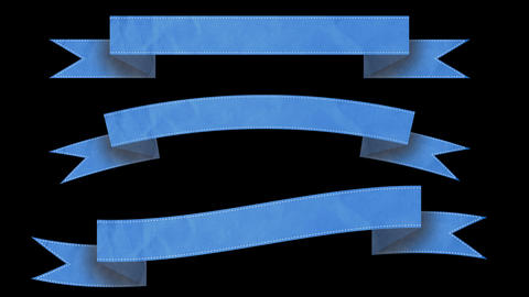 Animated ribbon banners for your text. Blue Animation