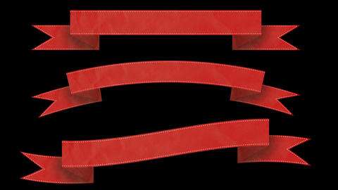 Animated ribbon banners for your text. Red Animation