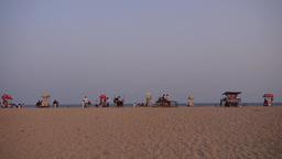 Beach Stalls On Beach,Mahabalipuram,India stock footage