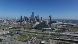 Aerial video of Downtown Dallas in Texas Footage