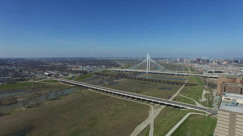 Margaret Hunt Hill Bridge in Dallas Live Action