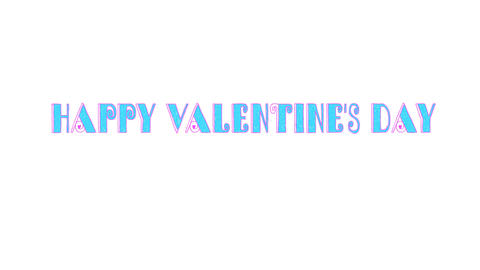 Happy Valentine's day inscription. Animation Animación