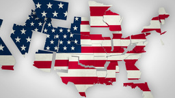 USA Map States Combine 4 K stock footage