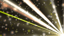 Abstract gold background with rays and particles Animation