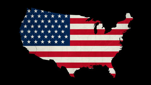USA Map - States Combine - With Transparency Animation