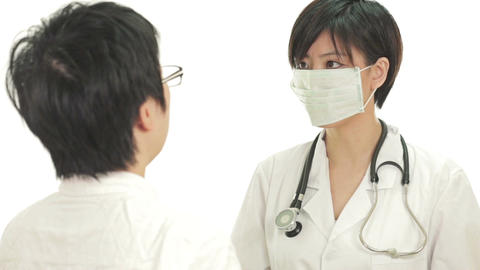 Asian doctor discussion with patient Footage
