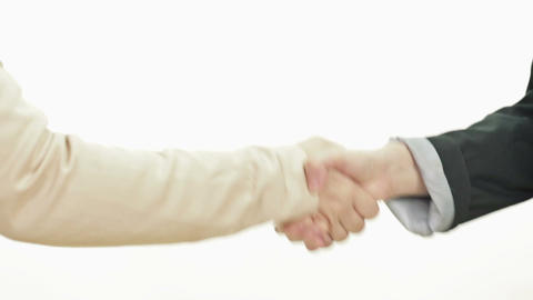 Two woman shaking hands profile Live影片