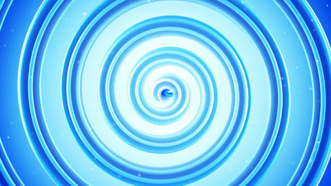 Light blue spiral shape spinning seamless loop 3D animation Animation