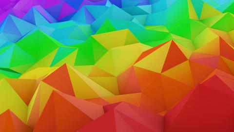 Colorful low poly shape seamless loop 3D animation Animation