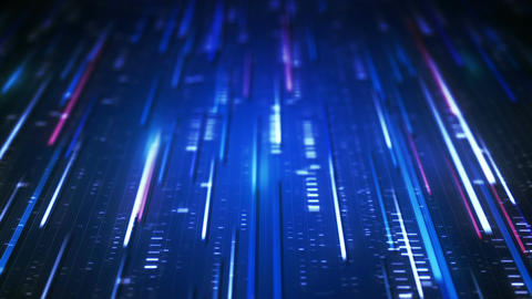 Data transfer blue technology loopable background Animation