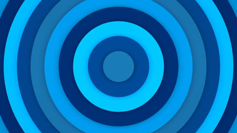 Blue concentric rings abstract 3D animation seamless loop Animation