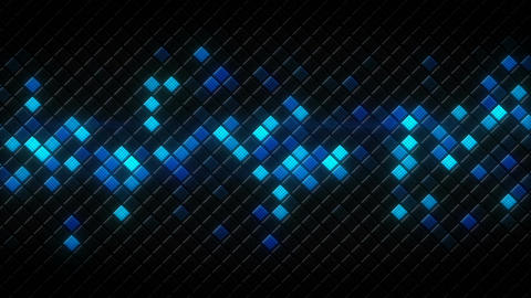 Glowing blue rhombus on black tiles loopable animation Animation
