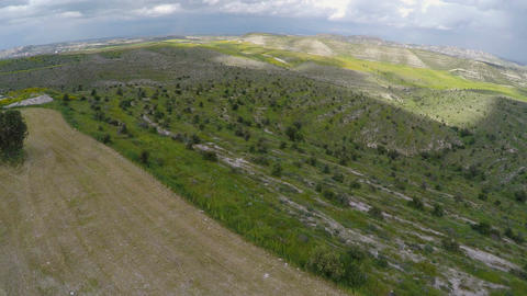 Aerial view of Cyprus landscapes, quadrocopter capturing the beauty of nature Footage