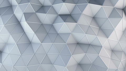 Technology low poly construction seamless loop 3D animation Animation