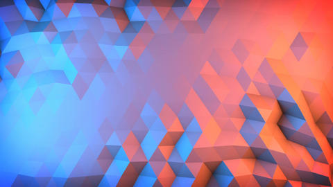 Low poly gradient surface vibrating loopable 3D animation Animation