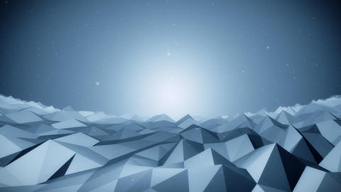 Blue polygonal background01 -HD CG動画素材