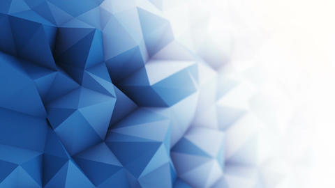 Blue white low poly surface seamless loop 3D animation Animation