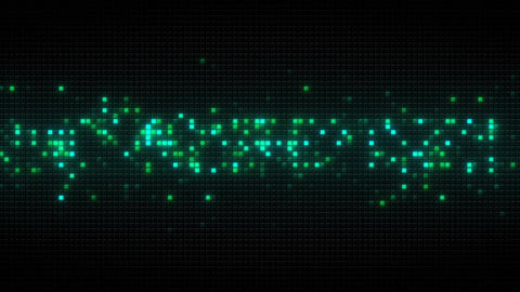 Glowing green cubes on black tile loopable animation Animation