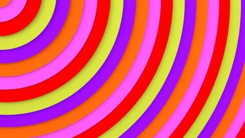 Bright multicolor concentric lines 3D animation seamless loop Animation