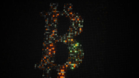 Scanning of bit coin sing seamless loop animation Animation