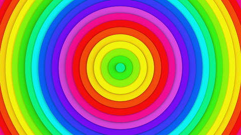 Colorful concentric lines abstract 3D animation seamless loop Animation