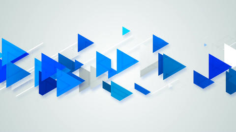 Blue triangles abstract geometric background Animation
