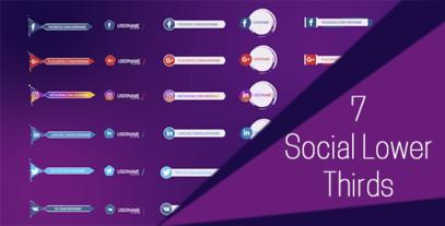 7 Social Lower Thirds After Effects Template