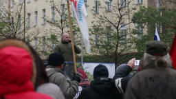 Demonstration of radical extremists, suppression of democracy, people Kotleba, a Footage