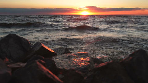 Amazing Sunset At Seaside 0