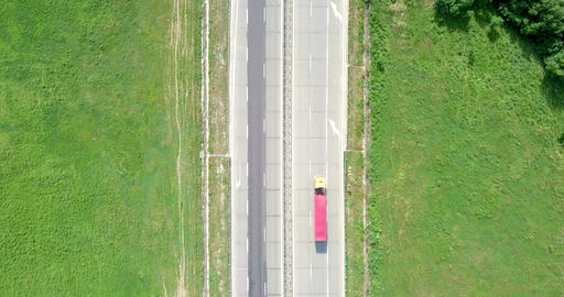 Aerial Drone View Of Country Roads Traffic With Moving Cars ビデオ