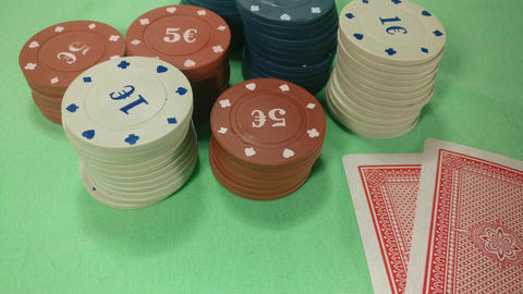 Casino Chips and poker cards Zoom GIF