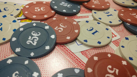Playing cards and poker chips Live Action