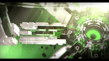 3D Sci Fi Logo (Green) After Effects Templates