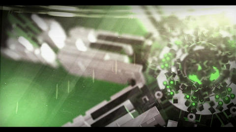 3D Sci Fi Logo (Green) After Effects Template