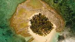 Aerial view beautiful beach on tropical island. Guyam island, Philippines, Siarg Filmmaterial