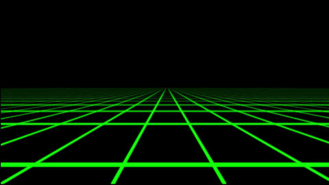 Green Holographic Tron Grid Floor Motion Graphic Element CG動画素材