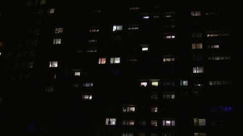 Block Of Flats 01 stock footage