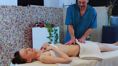 Stomack massage Footage