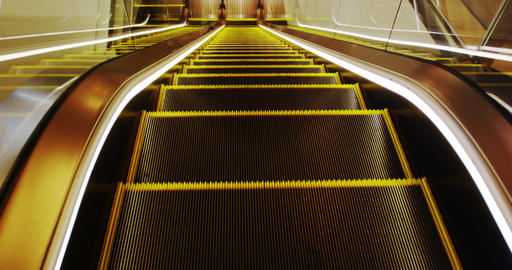 POV On An Escaletor stock footage