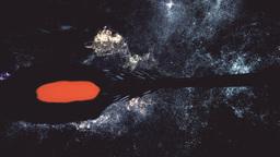 Spaceship Flying in Amazing Planetary Nebula Galaxy 3D Animation 7 stylized Animation