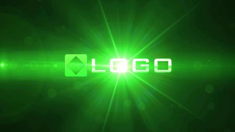 Toxic Green Light Streaks Particles Explosion Logo Reveal Animation After Effectsテンプレート