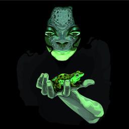 Metamorphosis, monster guy with a frog ベクター