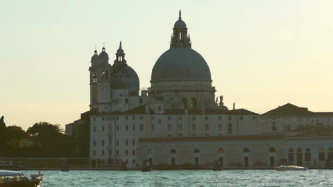 Peace and tranquility of ancient Santa Maria Della Salute cathedral, Venice view Footage