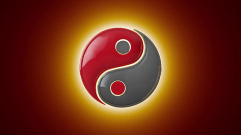 Mutual penetration. Yin Yang (a mutual addition of two opposites). Eastern cultu Animation