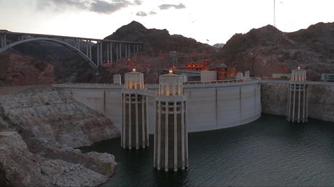 Hoover dam and Lake Mead Footage