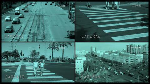 Split observation screen Footage