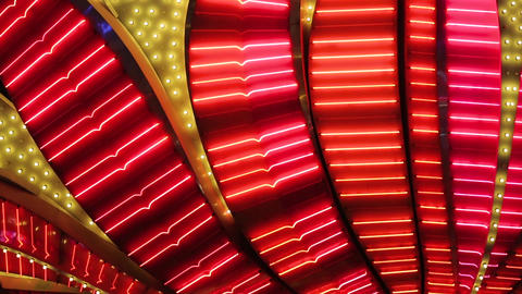 Neon flashing lights of Las Vegas Casino Footage